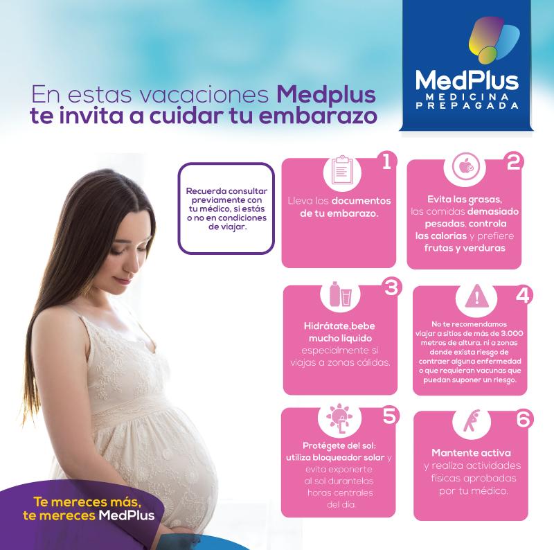 Cuida tu embarazo durante estas vacaciones