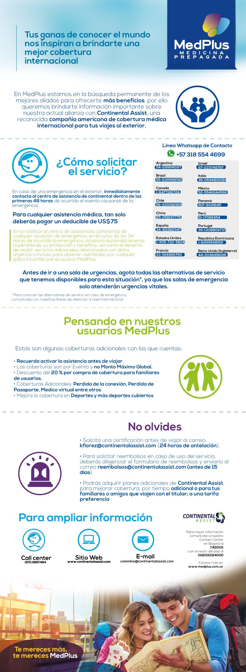 Asistencia médica internacional MedPlus - Continental Assist